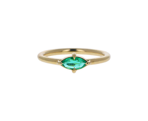 Marquise Colombian Emerald Ring