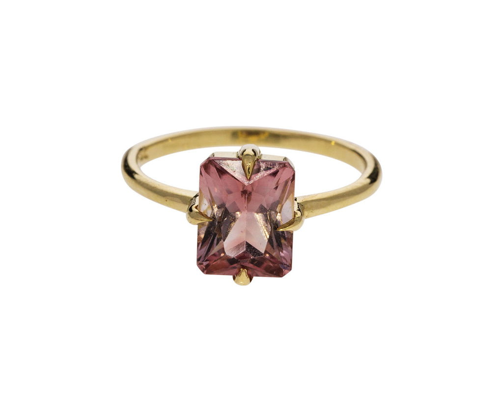 Peach Tourmaline Ring