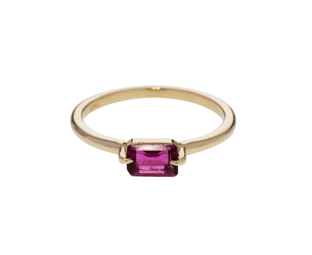 Hot Pink Tourmaline Ring