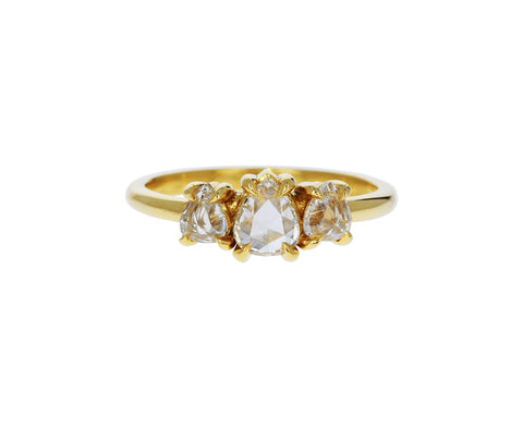 Triple Pear Shaped Diamond Ring - TWISTonline