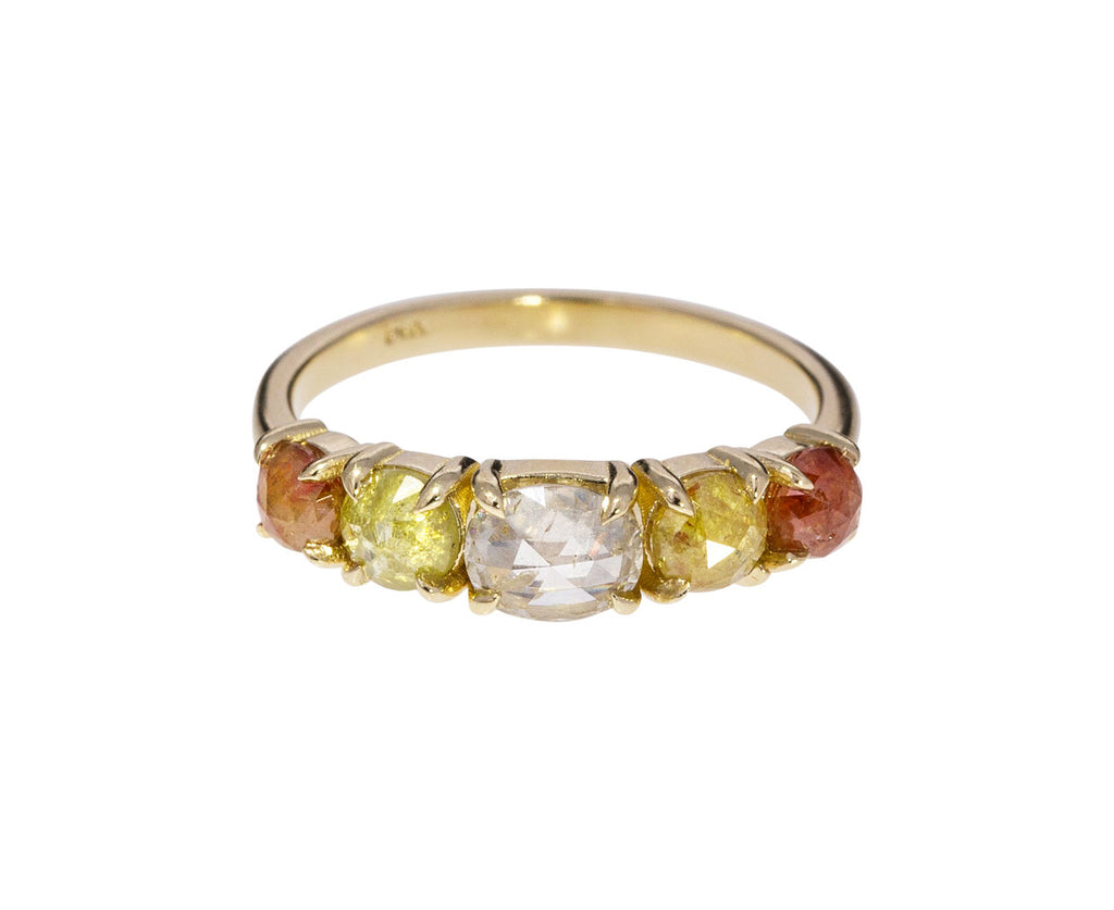 Multi Colored Natural Diamond Ring