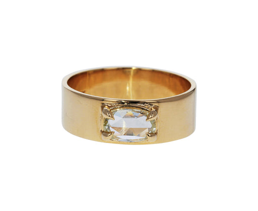 Rose Cut Diamond Solitaire Band