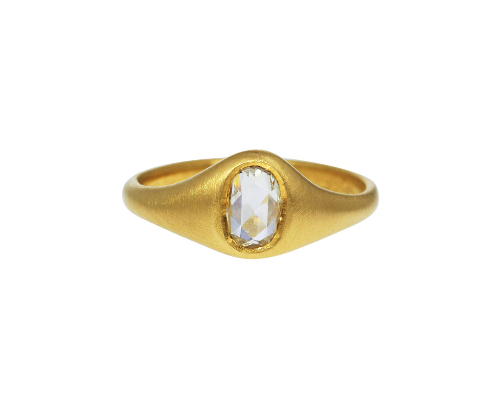 Rose Cut Diamond Signet Ring - TWISTonline