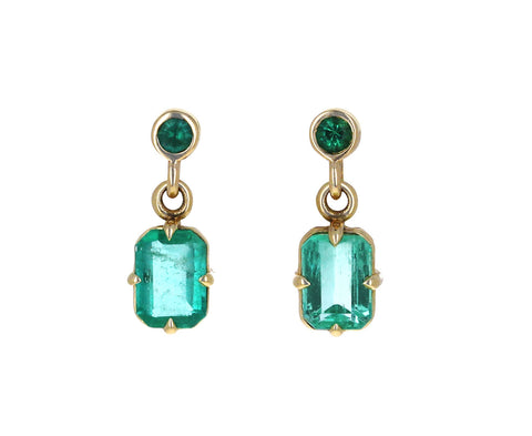 Colombian Emerald Drop Earrings