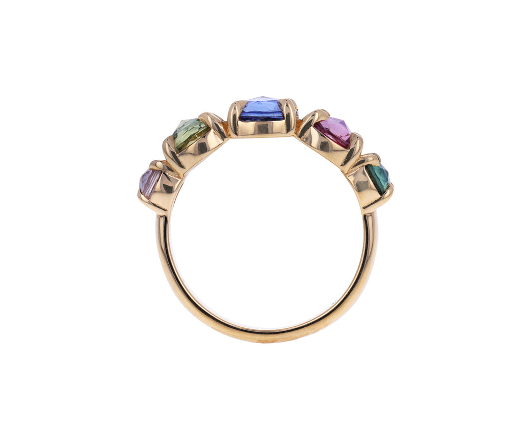 Mixed Rose Cut Sapphire Band