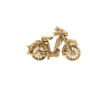 Vintage Gold Motorbike Charm ONLY