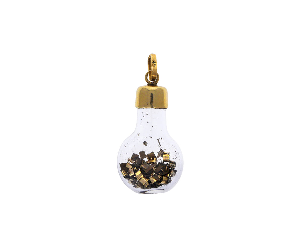 Vintage Gold Leaf in a Bottle Charm ONLY