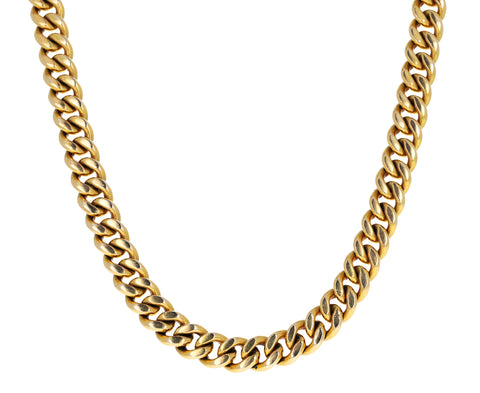Vintage Heavy Curb Chain Necklace