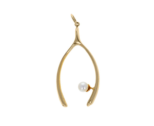 Victorian Pearl Wishbone Charm Pendant ONLY