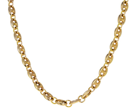 Vintage French Marine Link Chain Necklace