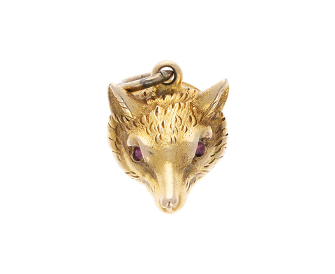 Vintage Victorian Fox Charm ONLY