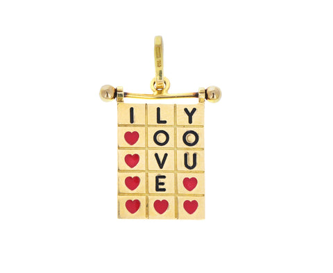 Vintage I Love You Charm ONLY