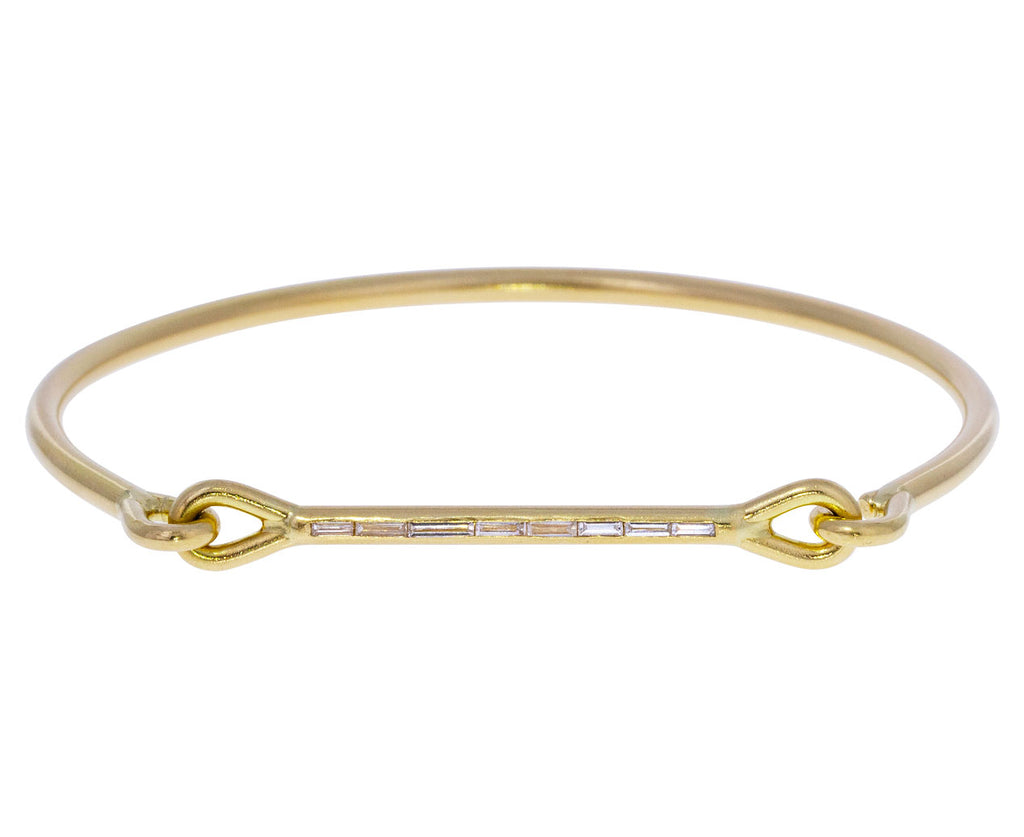 Baguette Diamond Needle Eye Cuff Bracelet - TWISTonline