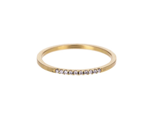 Ten Diamond Yellow Gold Band - TWISTonline