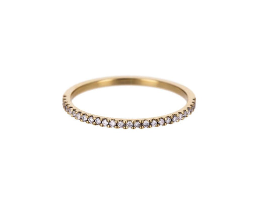Yellow Gold Diamond Half Eternity Band - TWISTonline