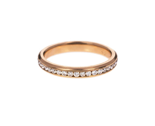Rose Gold Diamond Eternity Band - TWISTonline