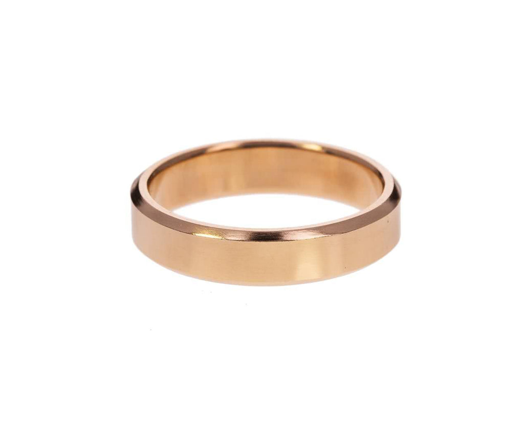 Rose Gold Beveled Edge Band - TWISTonline