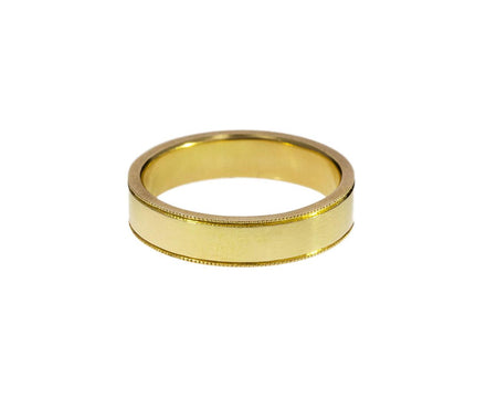 Milgrain Edge Gold Band - TWISTonline
