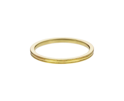 Yellow Gold Milgrain Band - TWISTonline