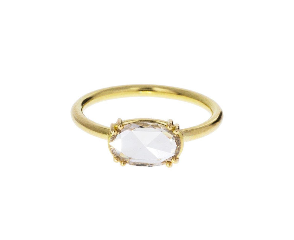 Champagne Rose Cut Diamond Solitaire zoom 1_tura_sugden_gold_oval_diamond_ring1