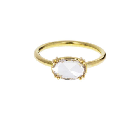 Champagne Rose Cut Diamond Solitaire - TWISTonline