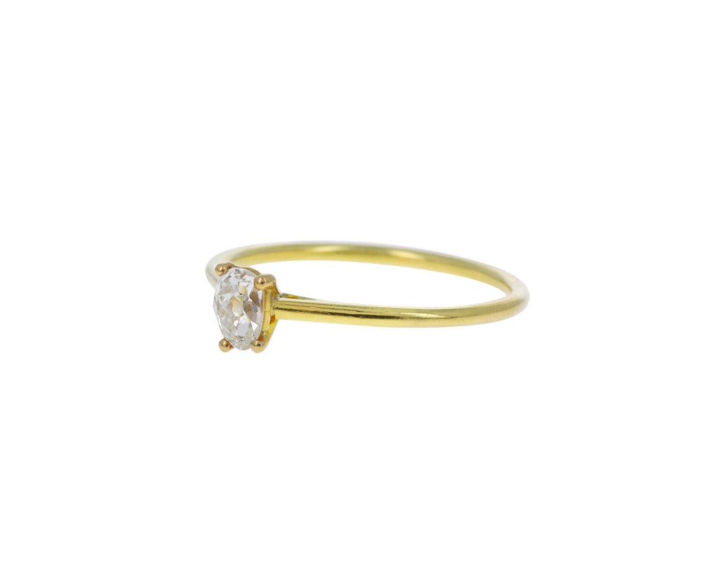 Antique Pear Cut Diamond Solitaire Ring