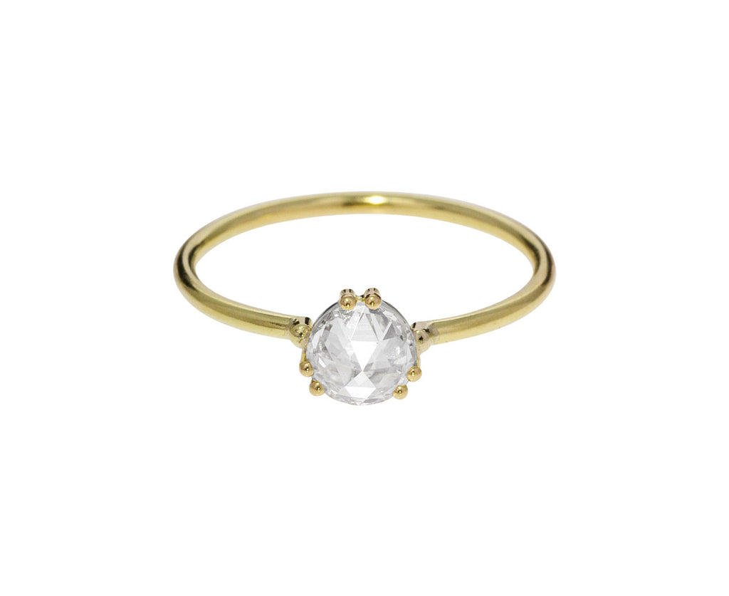 Rose Cut Diamond Solitaire