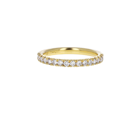 French Diamond Pavé Half Eternity Band