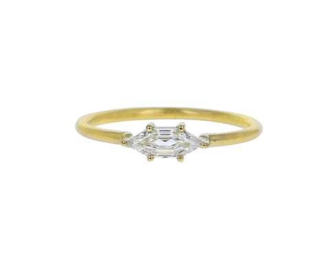 Hexagonal Step Cut Diamond Solitaire