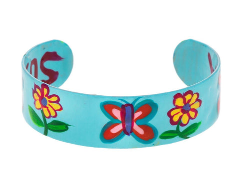 Flower and Butterfly Cuff Bracelet - TWISTonline