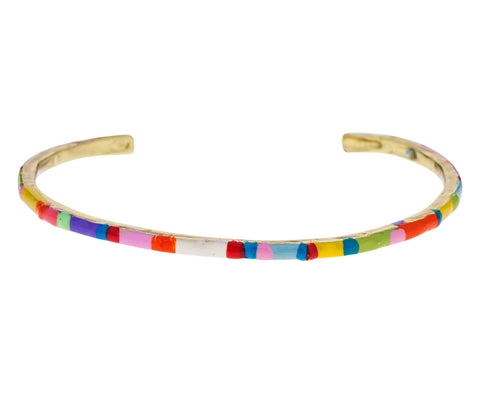 Slim Striped Cuff Bracelet - TWISTonline