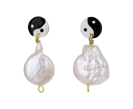 Pearly Yin Yang Drop Earrings - TWISTonline