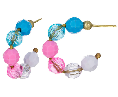 Mini Cotton Candy Hoop Earrings - TWISTonline