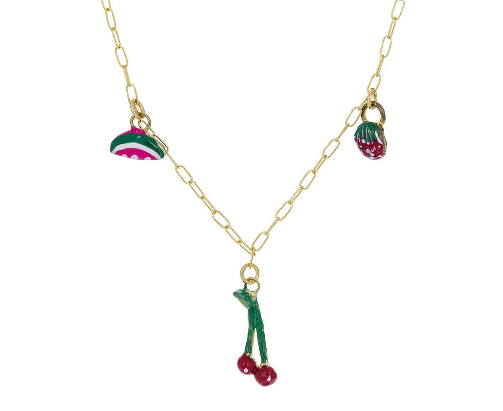 Cherry Strawberry Watermelon Tiny Joys Necklace - TWISTonline