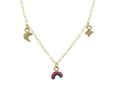 Moon Sparkle Rainbow Tiny Joys Necklace zoom 1_susan_alexandra_tiny_joys_necklace