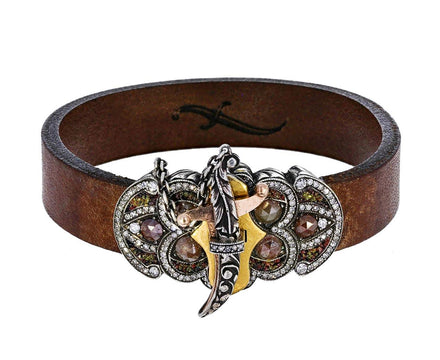 Diamond Sword Closure Leather Bracelet - TWISTonline