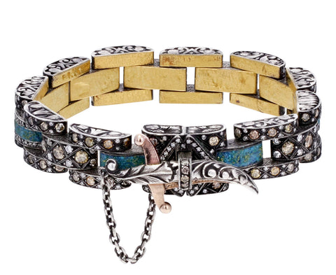 Diamond Chain Bracelet with Dagger Closure - TWISTonline
