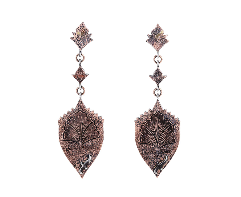 Carved Owl Amethyst Earrings