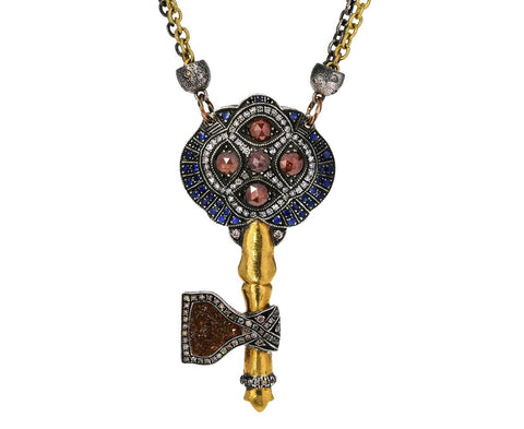 Diamond and Gold Key Pendant Necklace zoom 1__sevan_bicakci_diamond_sapphire_key_pendant_neck