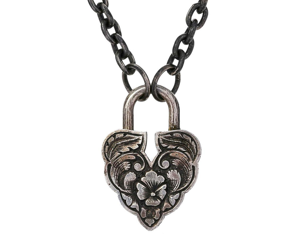 Diamond Aspen Leaf Padlock Pendant ONLY - TWISTonline