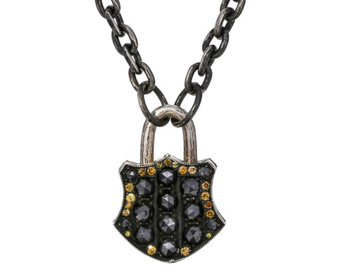Diamond Padlock Pendant ONLY zoom 1__sevan_bicakci_medium_shield_padlock_pendant