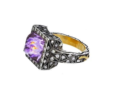 Carved Lavender Lily Rock Quartz Ring zoom 1_sevan_bicakci_petite_carved_lily_ring