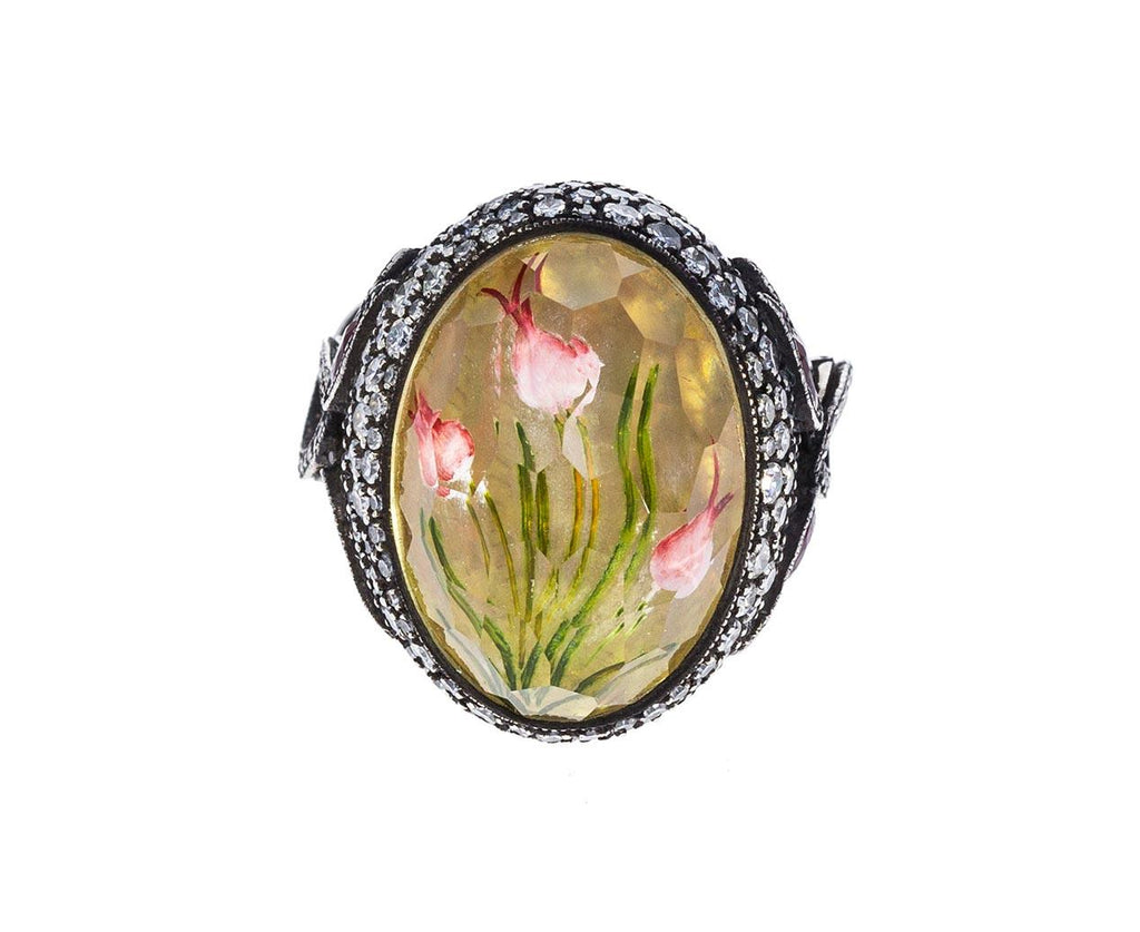 Carved Quartz Tulip Ring - TWISTonline
