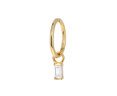 Yellow Gold Baguette Diamond Dangle Charm ONLY