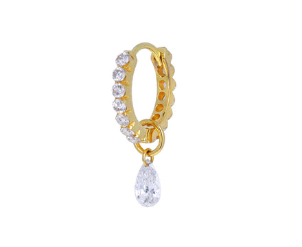 5mm Pear Shaped Diamond Dangle Charm ONLY