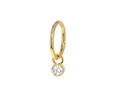 2.5mm Scalloped Set Diamond Dangle Charm ONLY