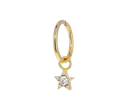 4.5mm Diamond Star Charm Dangle ONLY