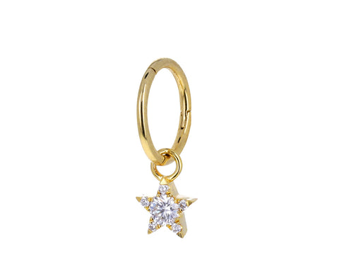 Yellow Gold and Diamond Star Charm ONLY