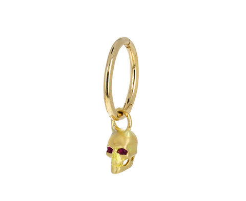 Yellow Gold and Ruby Skull Charm ONLY
