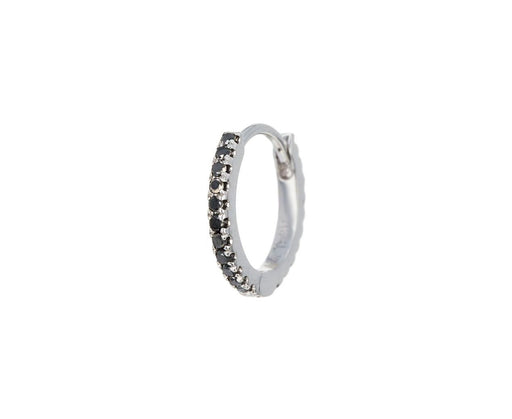 5/16 White Gold Black Diamond Eternity SINGLE Hoop - TWISTonline